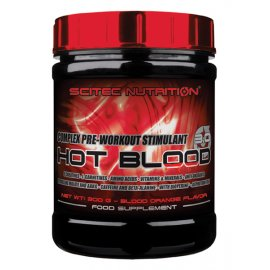 SCITEC HOT BLOOD 3.0 820g (raud. apelsinų sk.)