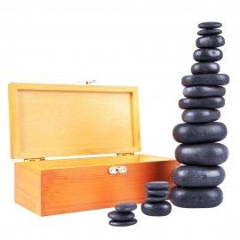Lavos masažinių akmenų rinkiny