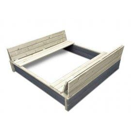 Smėlio dėžė su suoliukais ir d