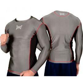 """MMA marškinėliai """"Tapout"""" ilg. rank.(pilki)-M,L,XL,XXL"""