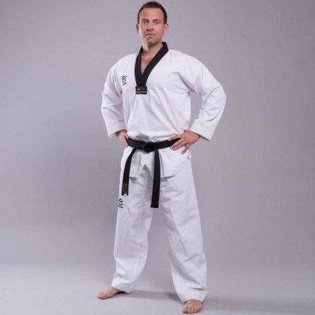 Taekwondo kimono Wacoku Ribbed Black