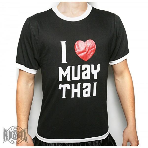 """Marškinėliai""""Royal""""-""""I Love MuayThai"""""""